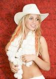 Het meisje van de cowboy stock afbeelding