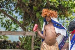 Het meisje van de Danitrit met Coca-cola Stock Foto