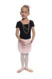 Het meisje van de dans op wit royalty-vrije stock foto's