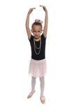Het meisje van de dans op wit stock foto