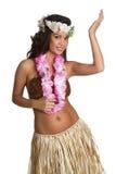 Het Meisje van de Danser van Hula Stock Afbeeldingen