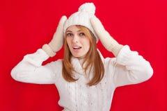 Het Meisje van de de winterschoonheid Royalty-vrije Stock Afbeeldingen