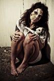 Het meisje van de demon stock afbeeldingen
