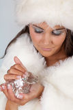 Het meisje van de diamant Stock Fotografie
