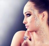 Het meisje van de diamant royalty-vrije stock afbeelding