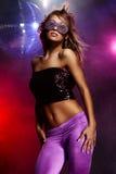 Het meisje van de disco Stock Foto's