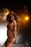 Het meisje van de disco Stock Afbeeldingen