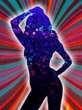 Het meisje van de disco Royalty-vrije Stock Foto's