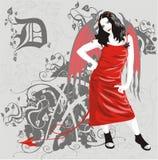 Het meisje van de duivel Royalty-vrije Stock Afbeeldingen