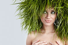 Het meisje van de ecologie Stock Foto