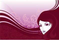 Het meisje van de elegantie stock illustratie