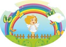 Het meisje van de engel Royalty-vrije Stock Afbeeldingen