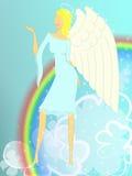 Het meisje van de engel Stock Afbeeldingen
