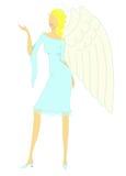 Het meisje van de engel royalty-vrije illustratie