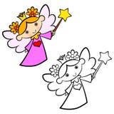 Het meisje van de feeengel Royalty-vrije Stock Afbeeldingen