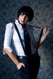 Het meisje van de gangster Stock Fotografie