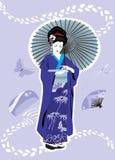 Het meisje van de geisha Royalty-vrije Stock Foto's