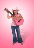 Het Meisje van de gitaar stock foto