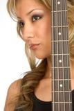 Het Meisje van de gitaar Royalty-vrije Stock Foto's