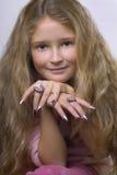 Het meisje van de glamour Royalty-vrije Stock Foto's