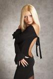 Het meisje van de glamour het stellen Stock Fotografie