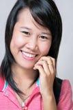 Het meisje van de glimlach Stock Afbeeldingen