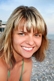 Het meisje van de glimlach Royalty-vrije Stock Foto