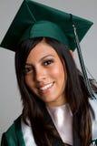 Het Meisje van de graduatie stock foto's