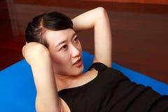 Het meisje van de gymnastiek Stock Foto