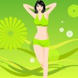 Het Meisje van de gymnastiek Stock Afbeelding