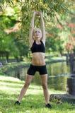 Het meisje van de gymnastiek Stock Foto's