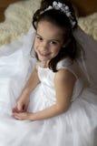 Het Meisje van de Heilige Communie stock foto's