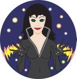 Het meisje van de heks Royalty-vrije Stock Foto's