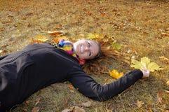 Het Meisje van de herfst stock afbeeldingen