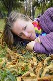 Het Meisje van de herfst stock fotografie