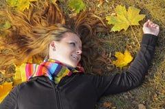 Het Meisje van de herfst stock afbeelding
