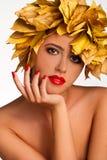 Het meisje van de herfst. Royalty-vrije Stock Afbeelding