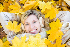 Het meisje van de herfst Royalty-vrije Stock Foto