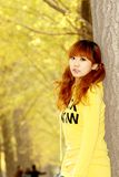 Het meisje van de herfst Stock Foto's