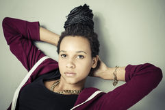 Het Meisje van de hiphopmanier Royalty-vrije Stock Foto's