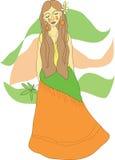 Het meisje van de hippie Stock Foto's