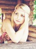 Het meisje van de hippie Stock Afbeelding