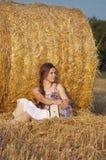 Het meisje van de hooimijt Royalty-vrije Stock Afbeelding