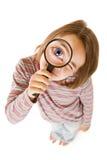 Het meisje van de inspecteur Stock Foto