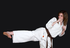 Het meisje van de karate royalty-vrije stock foto's