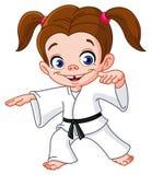 Het meisje van de karate vector illustratie
