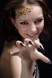 Het meisje van de kat Royalty-vrije Stock Afbeelding