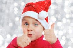 Het meisje van de kerstman Royalty-vrije Stock Foto