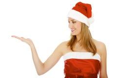 Het Meisje van de kerstman Stock Afbeelding