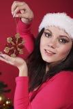 Het meisje van de kerstman royalty-vrije stock afbeelding